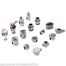 Wholesale Lots Mixed Charm Beads Casual Dining Food Fit Bracelet Jewelry Gift