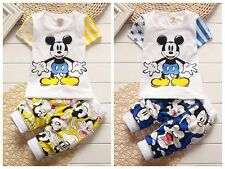 2pcs Toddler Infant Kids Baby Boys Cotton T-shirt tops +shorts Clothes Sets