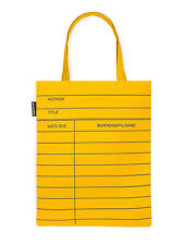 Yellow Library Card Tote Bag by Out of Print NEW