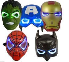 Hot Super hero avengers Hulk Batman Captain america Spiderman&Iron man LED Mask