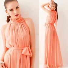 Summer Boho Long Maxi Dress Women's Evening Party Beach Dresses Chiffon Dress