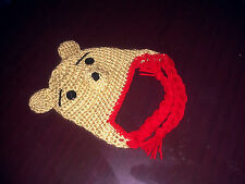 Handmade Crocheted Baby Winnie Pooh Bear Hat Child Unisex Photo Prop All Sizes