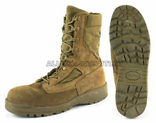 US Military HOT WEATHER Coolmax COMBAT BOOTS Vibram Sole Coyote USA Made EXC