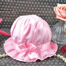 Newborn Infant Baby Girls Outdoor Bucket Hats Bonnet Beanie Sun Cap 0-24 Months