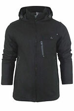 Mens Brave Soul Duffle Coat Wool Blend Winter Jacket Hooded Sizes S - XL