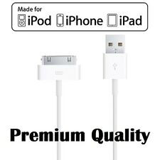 1mt,2mt,3mt iPhone 4S 3G USB Data Charger Cable iPad 2 3 iPod Classic iOS8 30pin