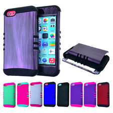 For Apple iPhone 5C Light Lite Triple Layer Hybrid Soft Hard Case Cover