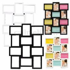 Multi Collage Photo Picture Frame Holds 12 Photos Aperture Wall Decor 4''x 6''