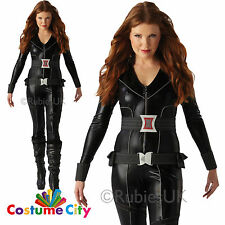 Adults Womens Official Marvel Avengers Black Widow Fancy Dress Party Costume