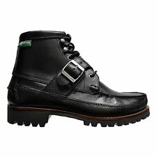 EASTLAND Men's Silverado 1955 Edition Leather Casual Strap & Buckle Boot Black