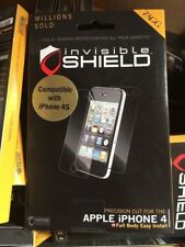Genuine Authorized Zagg invisibleShield Screen Protector iPhone 4 4S Full Body