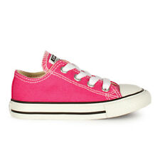 Infants Converse Chuck Taylor Ox Lo Pink Paper Trainers