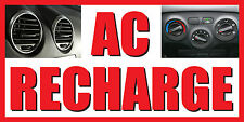 """AC Recharge Vinyl BANNER SIGN - Sizes 24"""", 48"""", 72"""", 96"""", 120"""""""