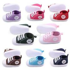 Fashion Toddler Kids Canvas Sneakers Boy Girl Soft Sole Crib Shoes 0-12Months