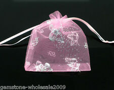 Wholesale NEW 7x9cm Drawable Organza Wedding Gift Bags&Pouches X-mas Favor