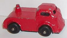 1950's BARCLAY CAR CARRIER TRANSPORTER TRUCK CAB RED SLUSH CAST TOY PART