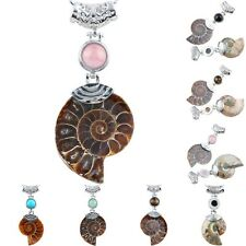 Natural Ammonite Fossil Healing Chakra Stone Gemstone Pendant Charm For Necklace
