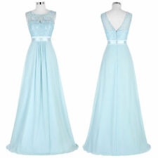STOCK Long Chiffon Evening Cocktail Party Gown Formal Bridesmaid Maxi Prom Dress