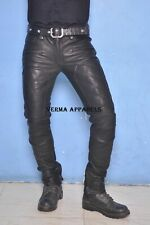 SkinTight QUILTED leather steampunk fetish skinny pipes pant jeans punk rock GTC