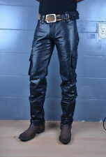 leather cargo pant biker jeans military army pant harley sturdy custom made GTC