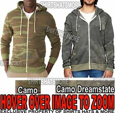 Alternative Apparel Mens CAMO Zip Hoodie NEW!