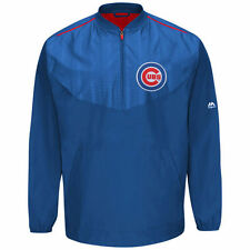 Chicago Cubs Majestic Big & Tall Cool Base On-Field Training Jacket - Royal