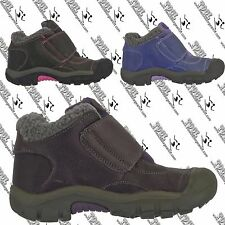 KEEN GIRLS KIDS YOUTH KOOTENAY LEATHER UPPER WINTER SNOW ANKLE BOOTS US 1, EU 33