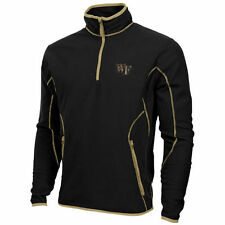 Mens Wake Forest Demon Deacons Antigua Black Ice Quarter-Zip Fleece Jacket