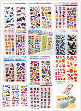 Hots kids gift!3D Puffy Scrapbook teaching Kids Party Favors Crafts stickers lot