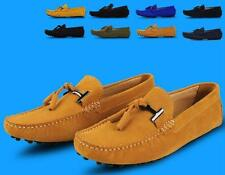 Mens casual Moccasin Loafer slip on Driving suede leather boats Shoes