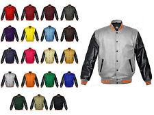 Faux Leather Sleeve Letterman College Varsity Men Wool Jackets BS-ORSTR-BB-LE