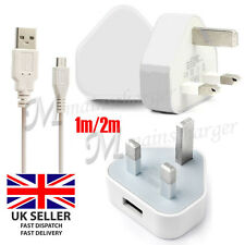 UK Mains Micro USB Wall Charger Plug Cable For Kindle Fire HD,Kindle Paperwhite