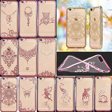 New Bling Ultra-Thin Shockproof Plating Diamond Soft TPU Case Cover for iPhone