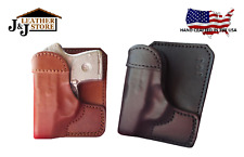 J&J TAURUS TCP FORMED WALLET STYLE PREMIUM CUSTOM FIT LEATHER POCKET HOLSTER