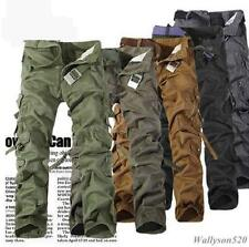 NEW MENS  CASUAL TACTICAL OVERALLS POCKET  PANTS MILITARY CARGO COMBAT TROUSERS
