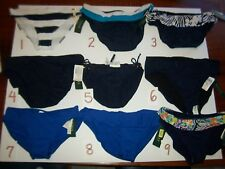 NEW RALPH LAUREN SWIMSUIT bikini bottom navy blue 8 10 12 14 16 Large