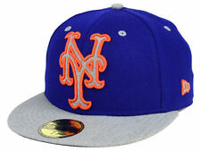 Official MLB New York Mets Full Heather XL Logo New Era 59FIFTY Hat