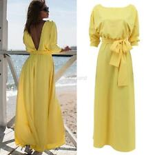 Summer Long Maxi Evening Party Dress Women's Backless Cocktail Prom Gown Dresses