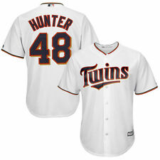 Youth Torii Hunter White Minnesota Twins Official Cool Base Player Jersey - MLB