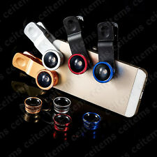 3in1 Lens Clip Kit Fisheye Wide Angle Macro for Mobile Cell Phone iPhone Samsung