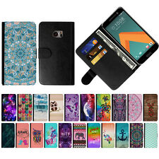 For HTC 10 One M10 Various Pattern Magnetic Leather Card Pouch Wallet Case Cover