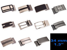 "Men's Belt Buckles 11 styles for 34 mm / 1.3"" leather belts straps"