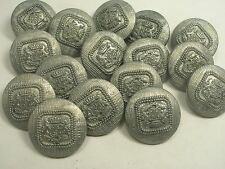 New Lots Silver Military Metal Buttons Royal Lion Crest 11/16, 13/16, 7/8 (S27)