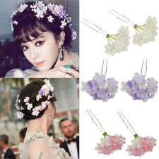 2PCS Flower Hair Pins Clips Wedding Bridal Bridesmaid Prom Headpiece Jewelry