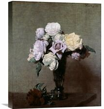 'Vase Of Flowers' by Henri Fantin-Latour Painting Print on Wrapped Canvas