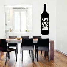 Save Water Drink Wine Wall Decal 12-inch wide x 48-inch tall