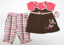 Young Hearts Capri Outfit Set Pink Infant Girls Size 12 18 24 Months New Tags