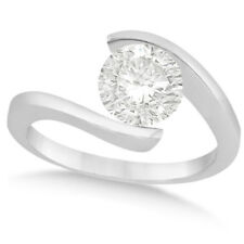 14k Gold 1 1/4ct Tension Set Solitaire Diamond Engagement Ring (G-H, SI1-SI2)