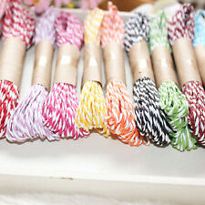 2x 10M 2mm Cotton Twine Wedding Party DIY Crafts String Ribbon 11 Divine Colors