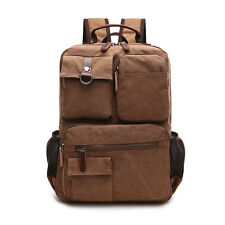 New Men's Canvas Shoulder Bag Backpack Rucksack Schoolbag Outdoor Travel Hiking